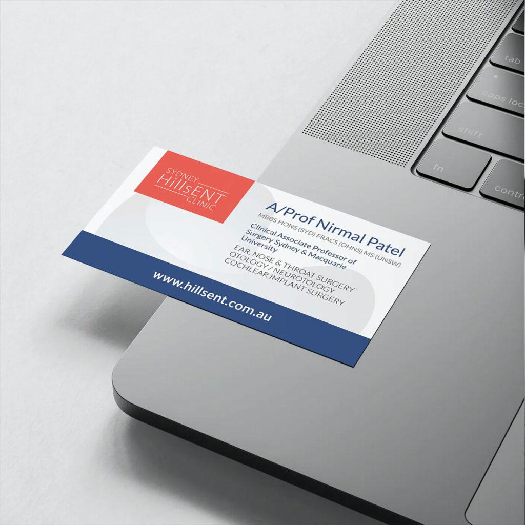 Sydney Hills ENT - Business Card Design