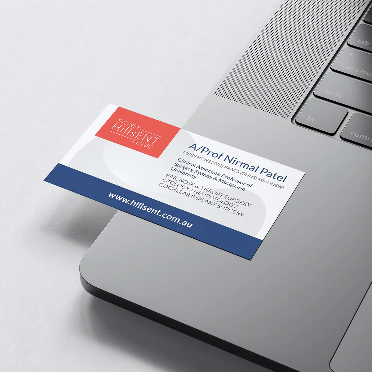 Sydney Hills ENT - Business Card Design
