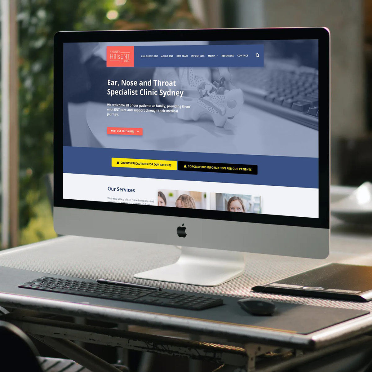 Sydney Hills ENT - Website Design