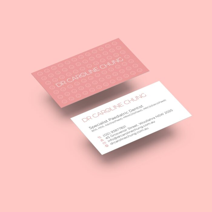 Dr Caronline Chung - Dentist Business Card Design