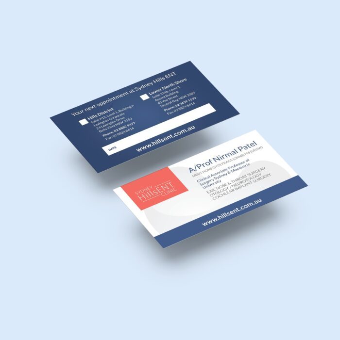 This is the business card design for A/Prof Nirmal Patel