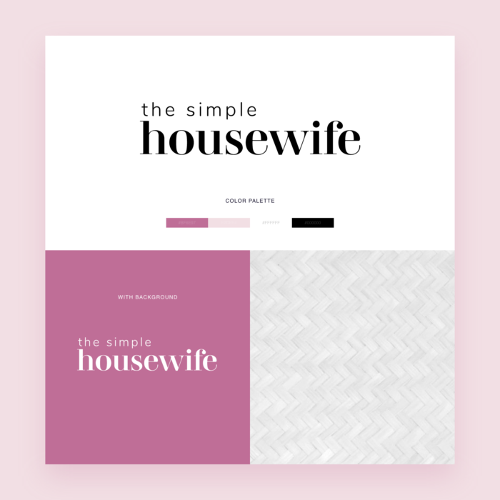 The Simple Housewife Logo Design